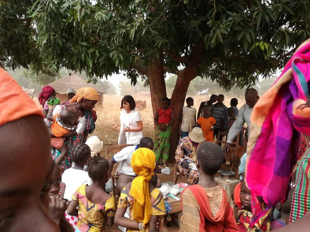 Measles vaccination in Kyabé
