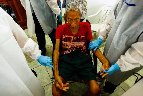 Antonio receives care – São Gabriel da Cachoeira, Brazil, 15 July 2020