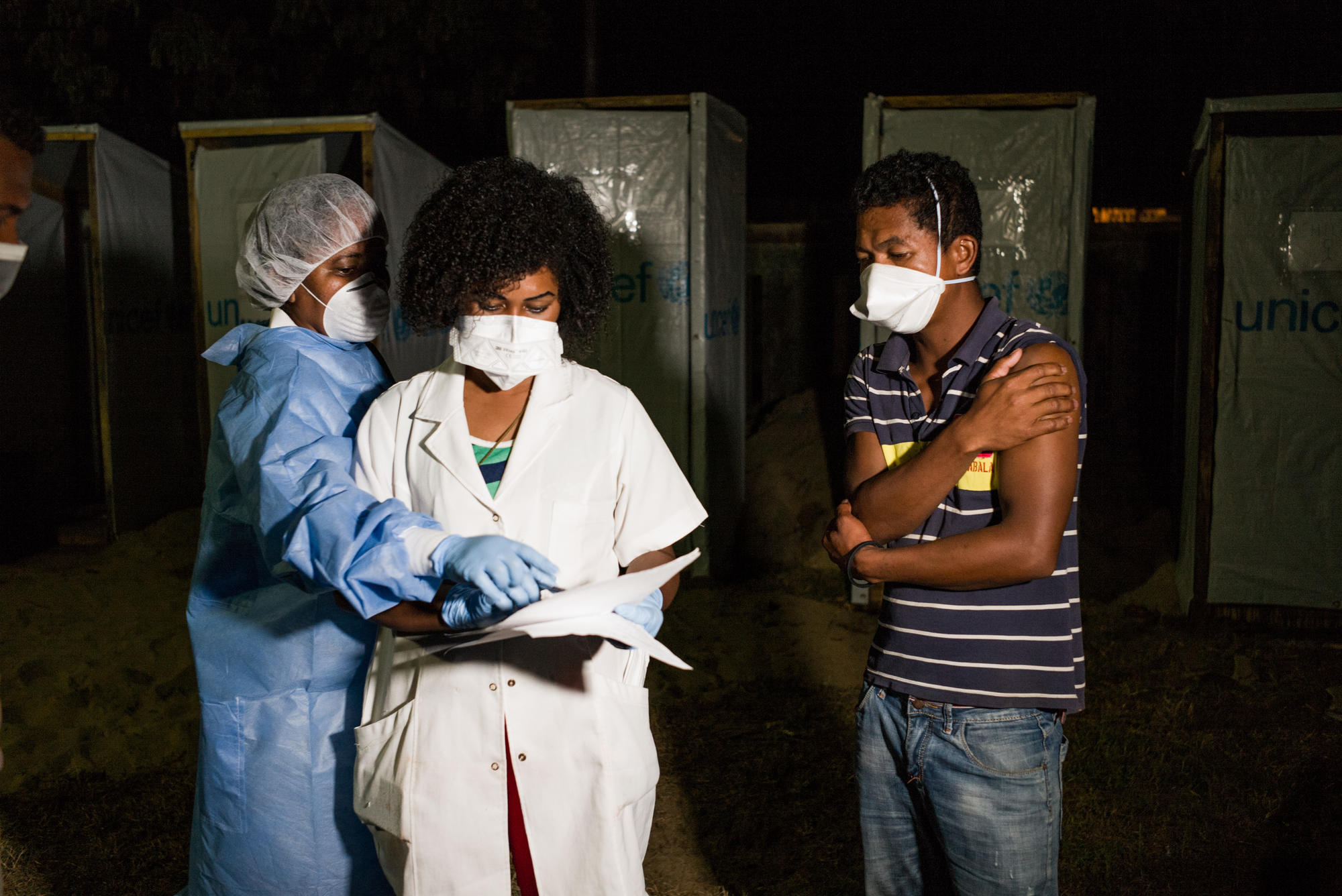 Andrinjaka Rafamantanantsoa, 28, was treated in MSF's Plague Triage and Treatment Center in Toamasina, Madagascar in 2017.