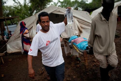 out-patient department in Batil refugee camp