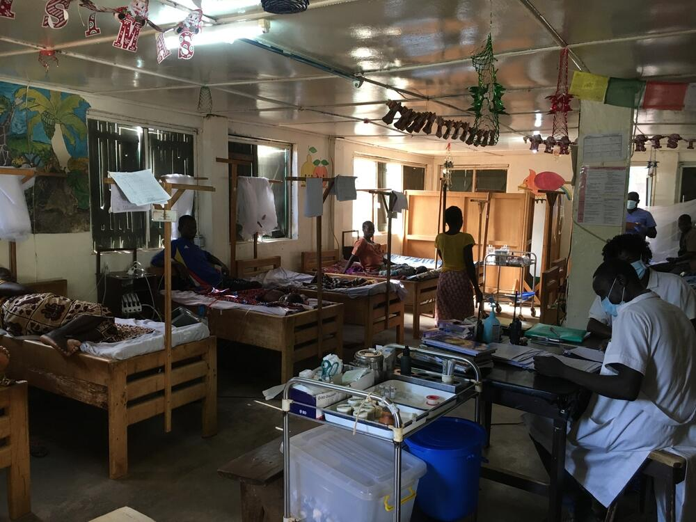 Paediatric ward at Batangafo hospital, Central African Republic.