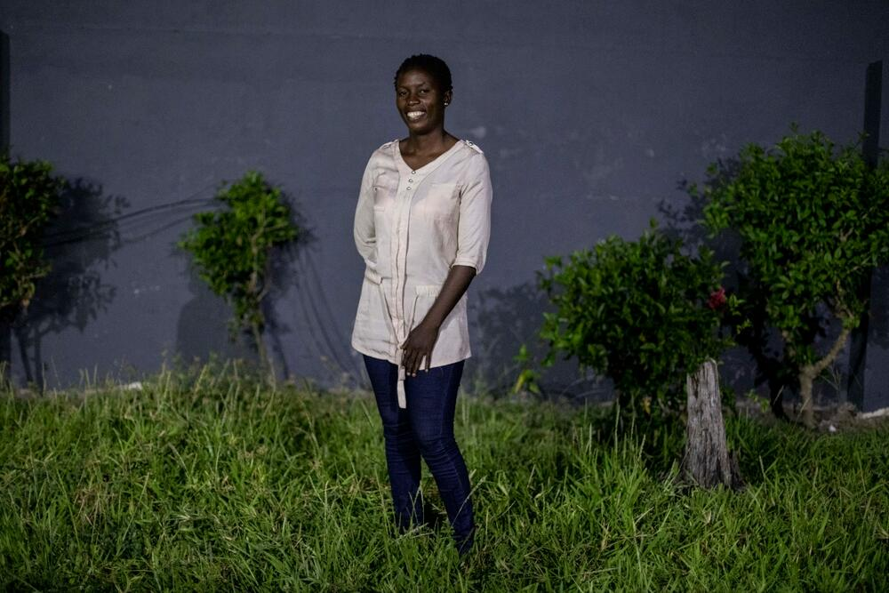 Teodora Tongouche, sex worker and MSF peer educator, outside the MSF office in Beira, Mozambique.