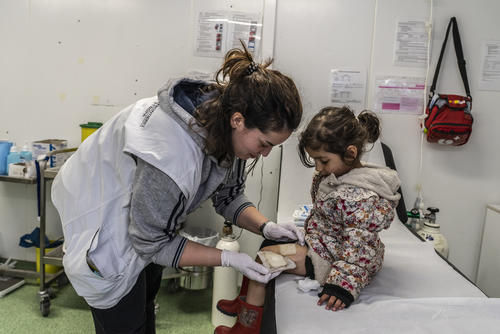 MSF pediatric clinic outside Moria and Olive Grove