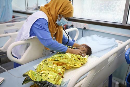 Shakir, Ad-Dahi rural hospital, Yemen