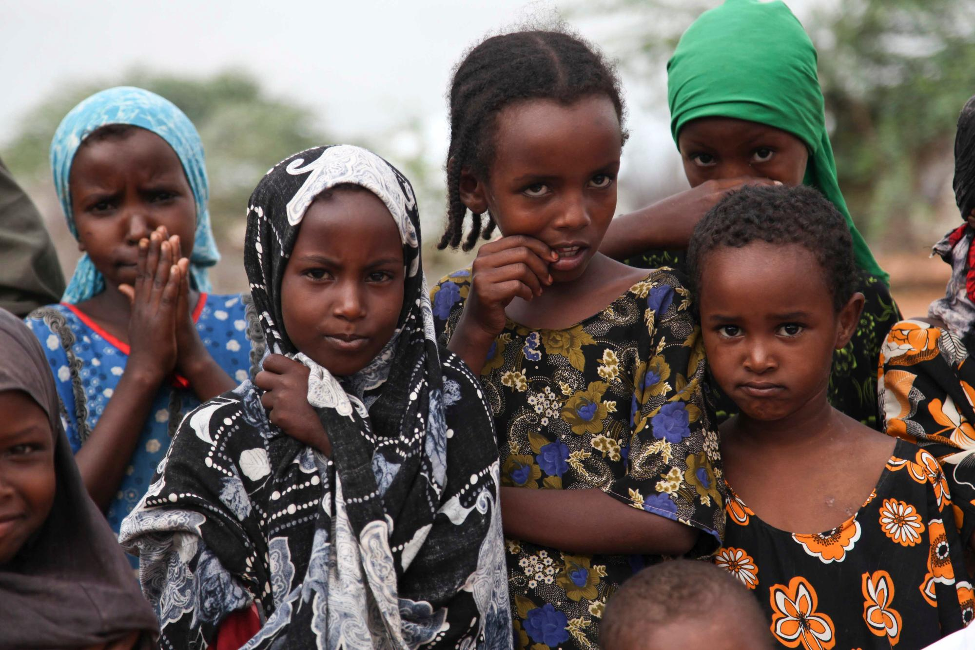 Somali children in Dagahaley refugee camp, Dadaab.