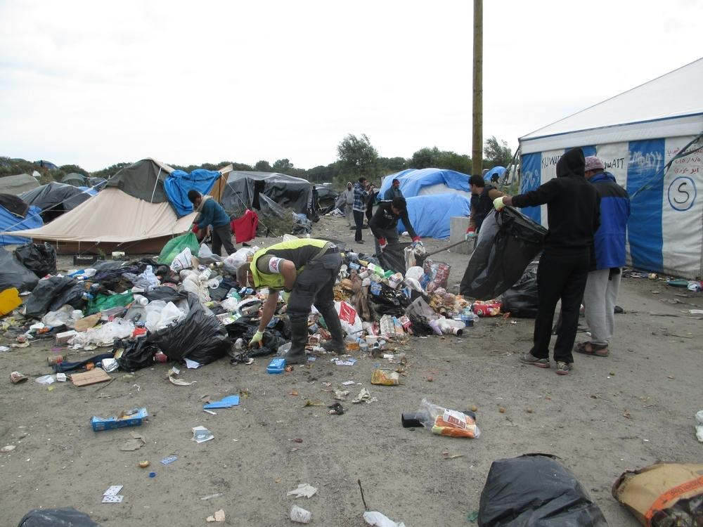 "The ""jungle"", a site in Calais, France."