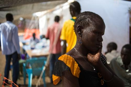 Juba displaced camp clinic 2014 JAN