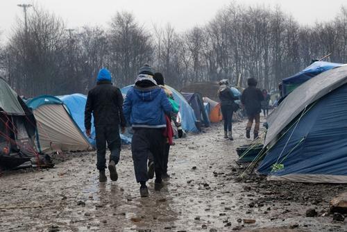 Grande-Synthe refugee camp Dunkirk - Jan 2016