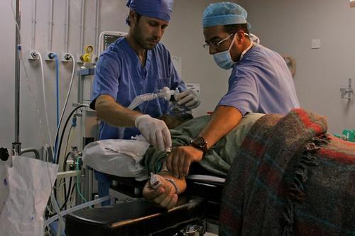 Emergency Trauma Surgery in Al Ramtha Governmental Hospital.
