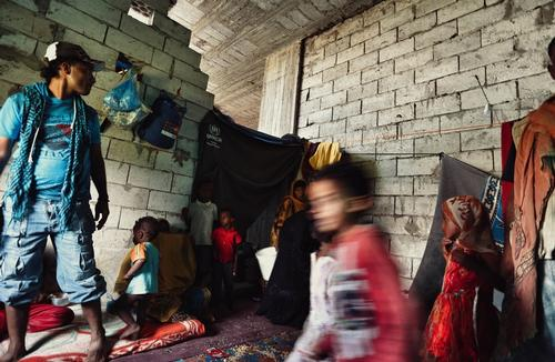 Internally displaced People form Taiz Enclave Yemen