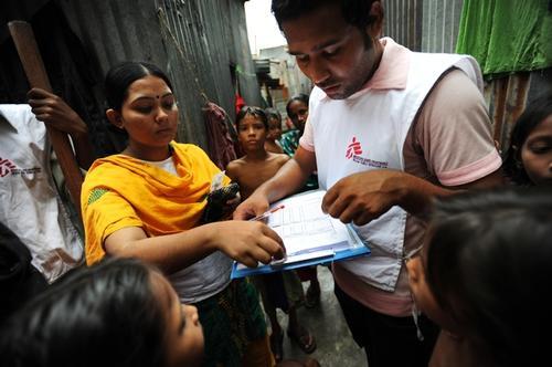 MSF health promoters in Kamrangirchar, Bangladesh