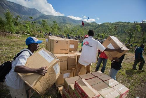Massive distribution of building materials, three months after Matthew