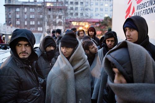 Winter Conditions in Belgrade, Serbia.