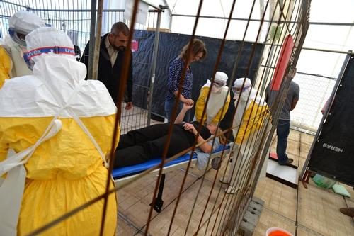 MSF Ebola Training Brussels 2014
