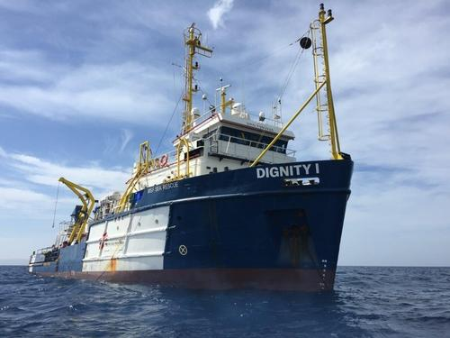 MSF first rescue operation in the Mediterranean Sea in 2016