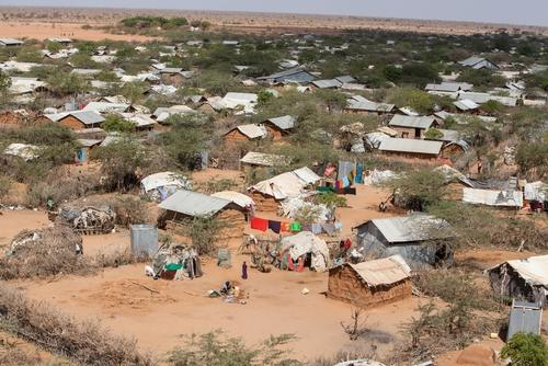 An aerial view of Dagahaley refugee camp, Dadaab, Kenya.