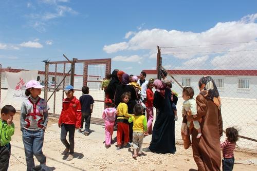 Syrian Refugees in Zaatari camp