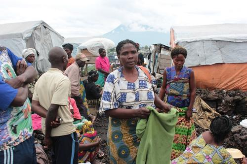newly displaced people in and around Goma, in Muguga III camp
