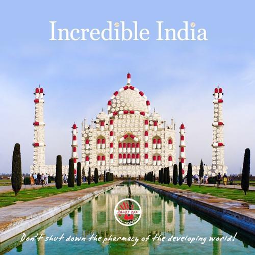 Incredible India Taj Mahal graphic
