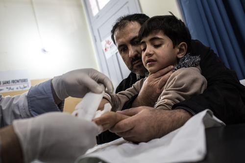 MSF post-op clinic in Gaza City