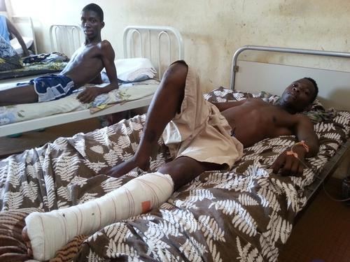 Bangui, patients at Community hospital