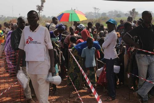 Camp Mpoko, measles vaccination