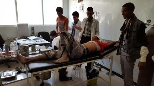 Aftermath of the attack on MSF clinic in Taiz, December 2015