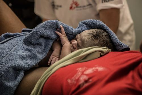 Childbirth on board of Dignity I