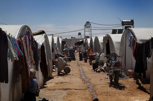 Transit camp in Aleppo province