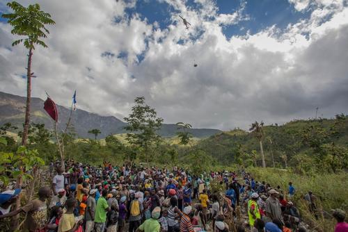 Aid Drops In Remote Areas Of Haiti