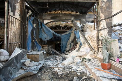East Aleppo –  Inside a hospital destroyed by an airstrike