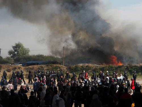 French authorities declare the Calais migrant camp empty