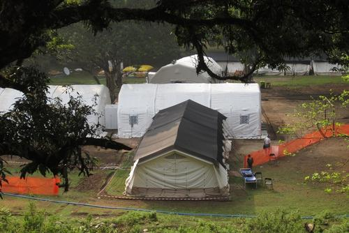 Nepal Earthquake: The Arughat Inflatable Hospital, in Gorkha district, Nepal