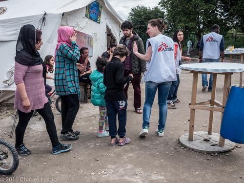 La Linière refugee camp - France
