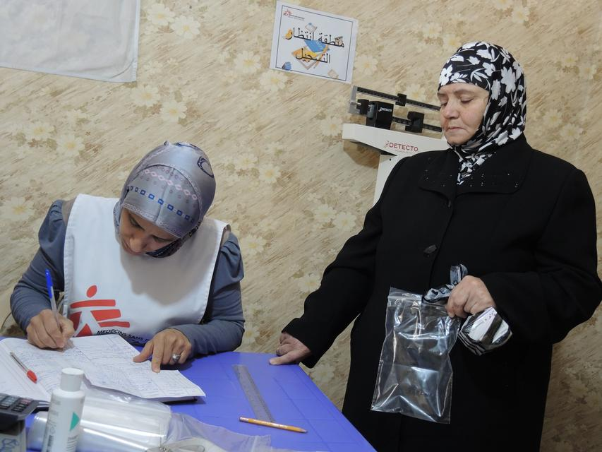 Leila, a 62 Syrian refugee