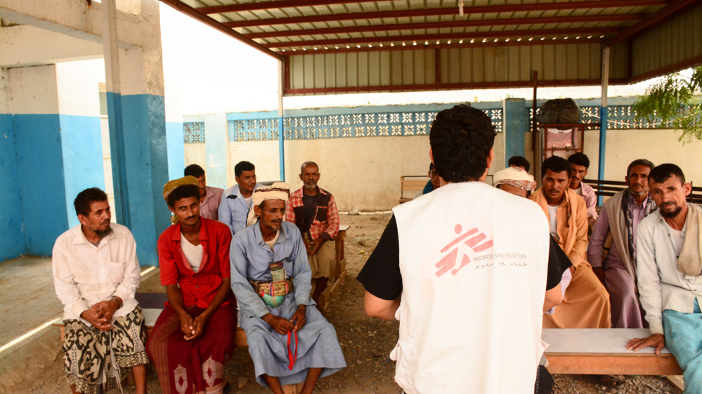 Mental Health Majed Bahr - 35 years old from Shafer city- has been working with MSF for 3 years as a psychological consultant.