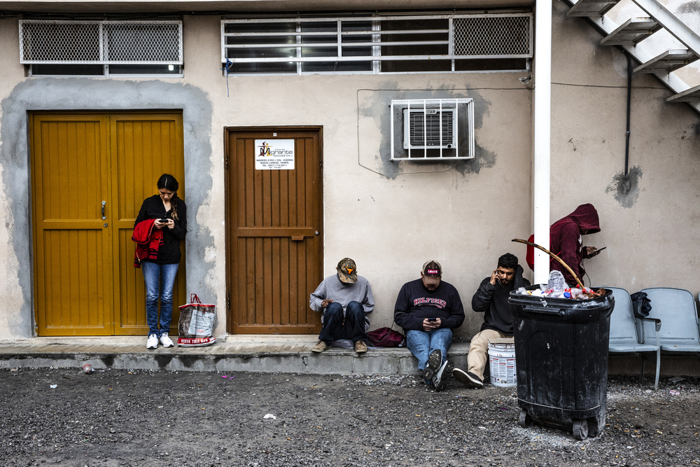 Some migrants on the street