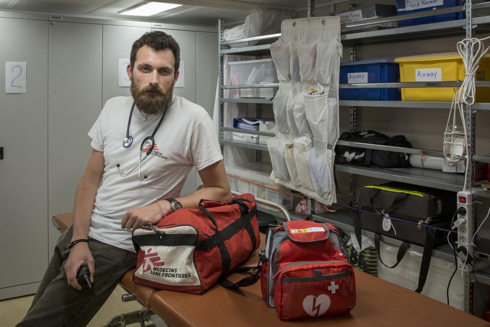 Luca Pigozzi, Medical Doctor on board the Ocean Viking