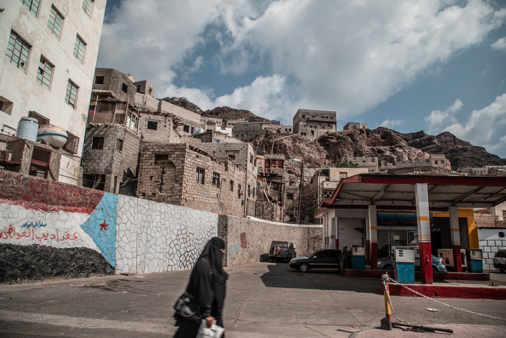 Yemen, Aden, 17 December 2018 - Streets of Crater district, Aden.