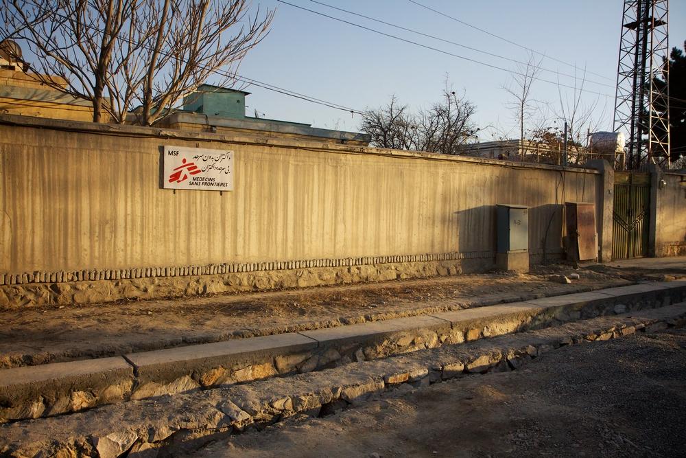 Základna Lékařů bez hranic v Kábulu.