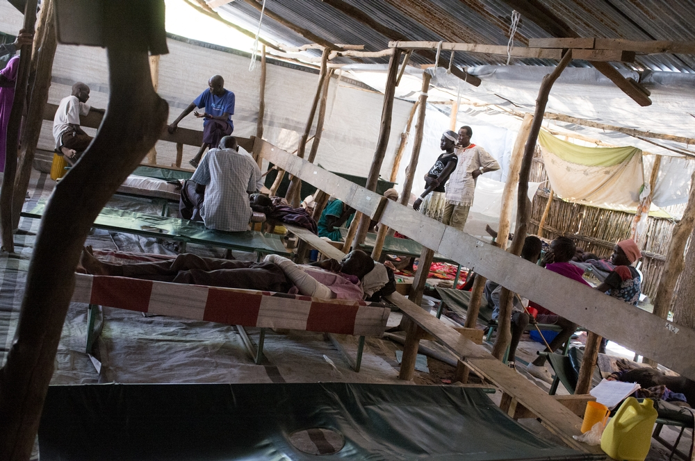 MSF's ward at Lankien hospital treats many people injured by conflict as well as those with kala azar.