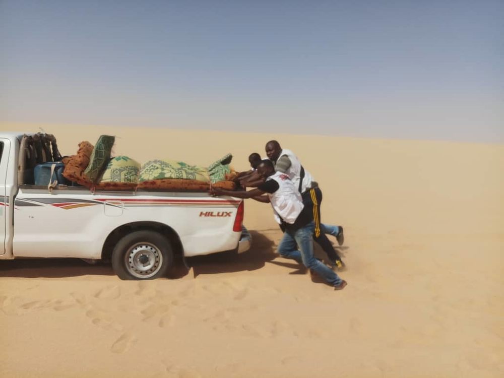 Dirkou area, Agadez region. Dirkou is one of the locations across Agadez región where MSF is running mobile clinics to assist people on the move and vulnerable host communities.