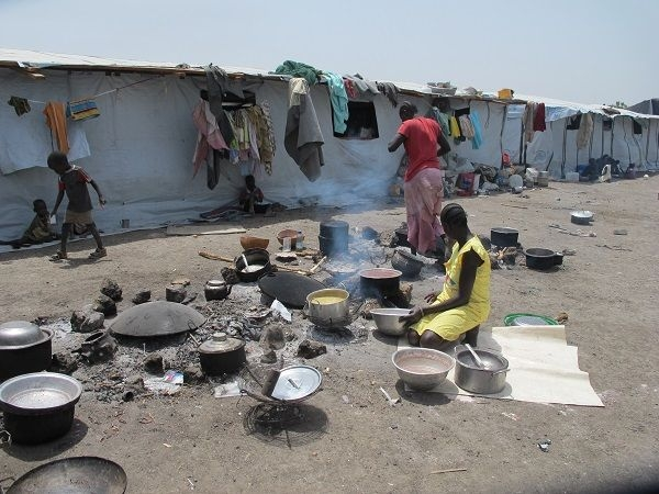 The UN protection of civilians (PoC) base in Malakal in April 2015.