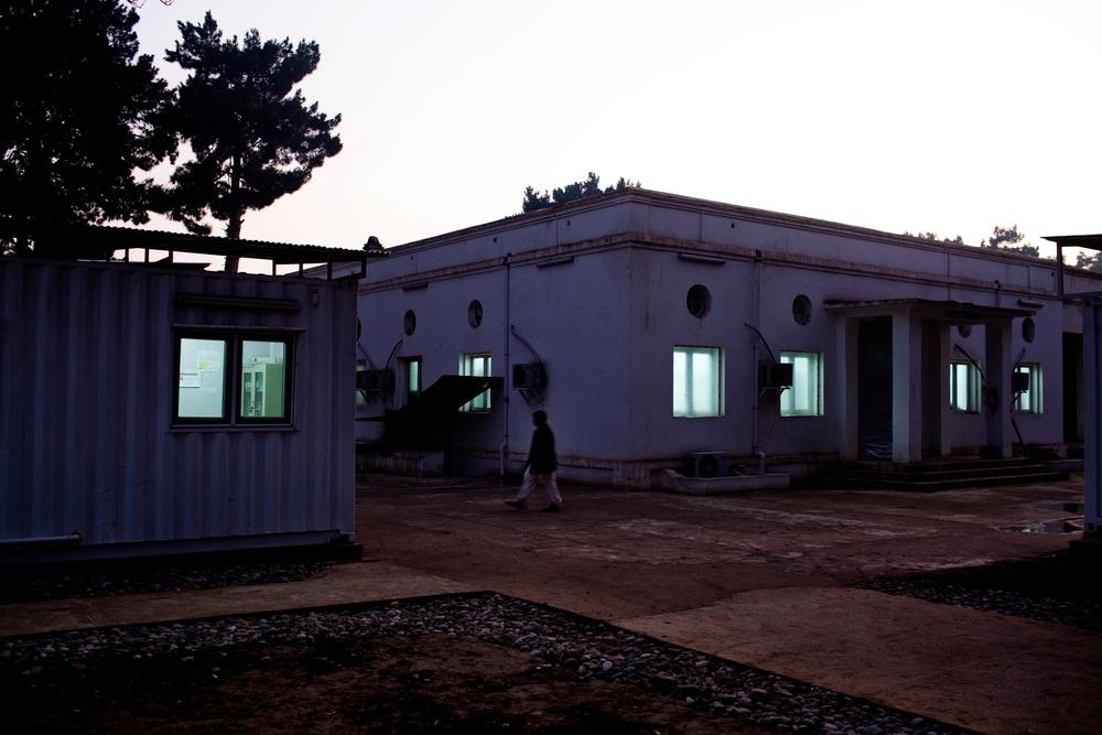 Areál nemocnice Lékařů bez hranic v Kundúzu.