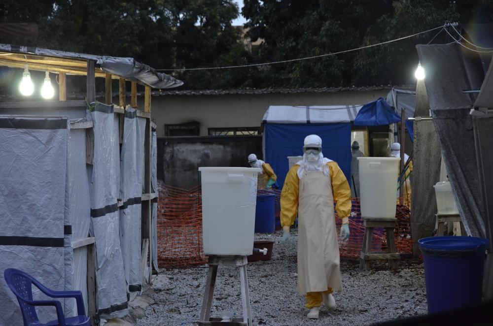 Ebolové centrum Donka v Konakry