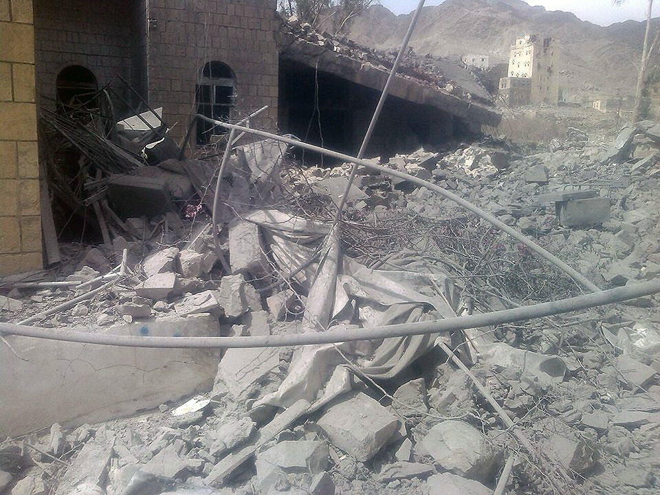 Staff could not enter the destroyed building because there were still bombs that had not exploded.
