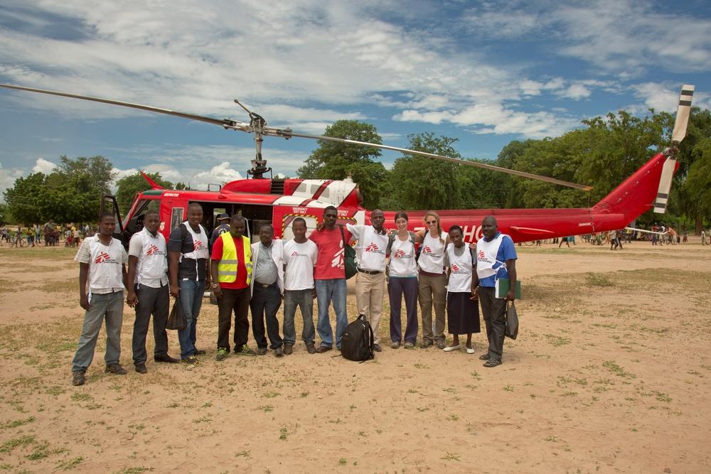 Tým Lékařů bez hranic v Makanze.