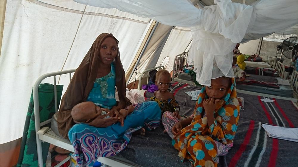 Muna camp. Gwangue therapeutic feeding center