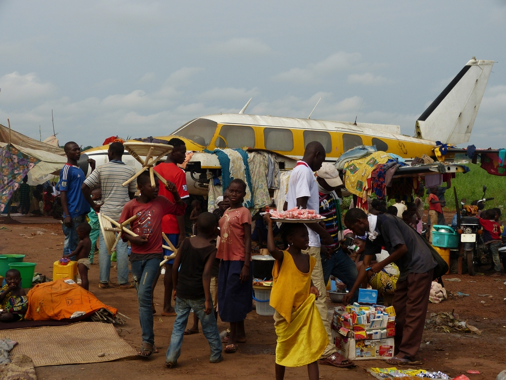 Following the days when violence had reached its peak, 40,000 people sought shelter at the airport in the capital of CAR.
