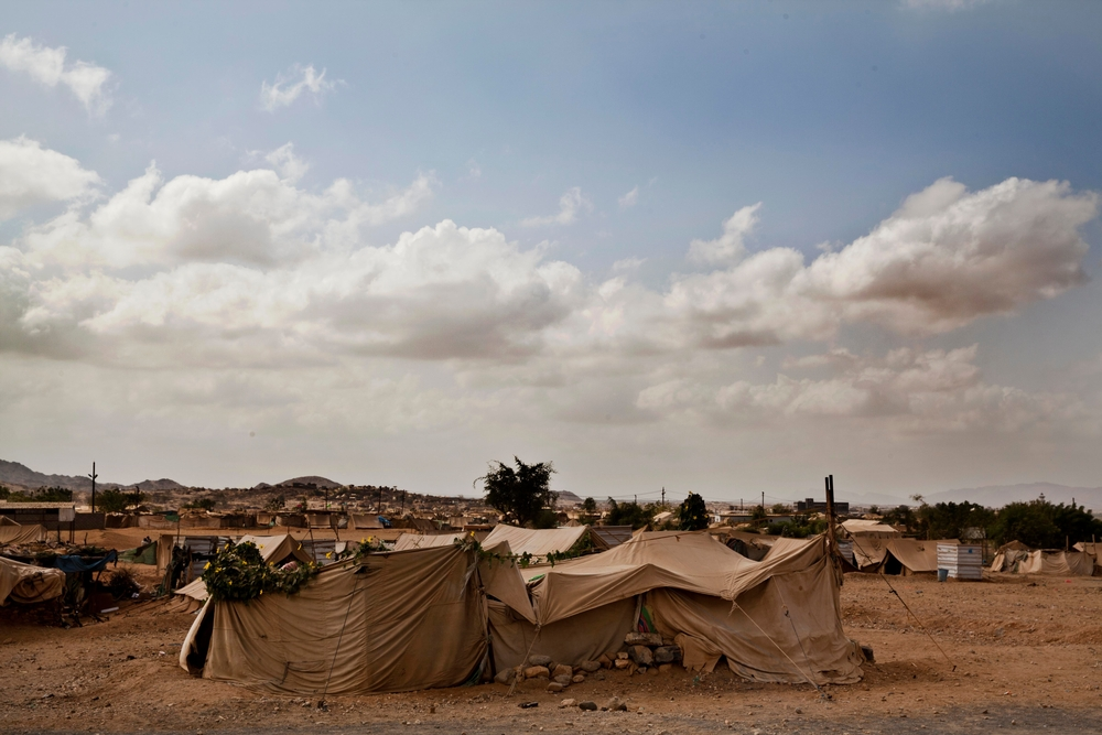 Five hundred new families had arrived in the camp in the days leading up to the airstrike targetting Al Mazraq, 30th March.